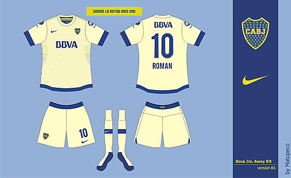 Boca Jrs Away Kit 01