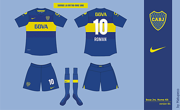 Boca Jrs Home Kit 01