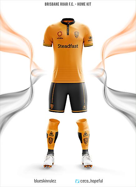 Brisbane Roar Fc home kit