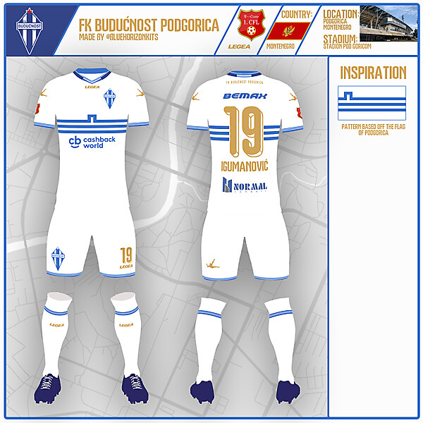 FK Budućnost Podgorica Away Kit   KOTW 55   made by @bluehorizonkits