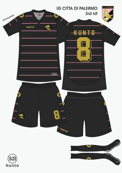 Palermo 3rd kit by @kunkuntoto