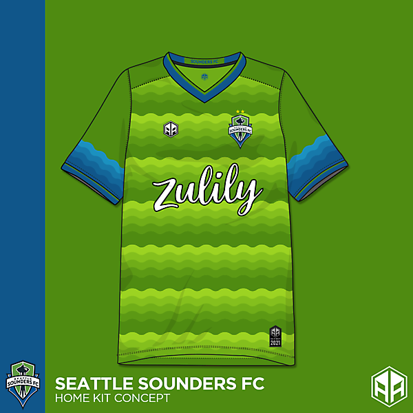 Seattle Sounders F.C home kit concept