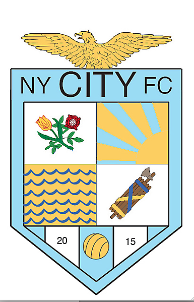 NYCFC Crest (5 Boroughs) (correct colors)