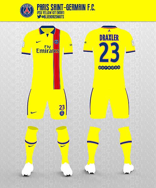 PSG Yellow Away Kit