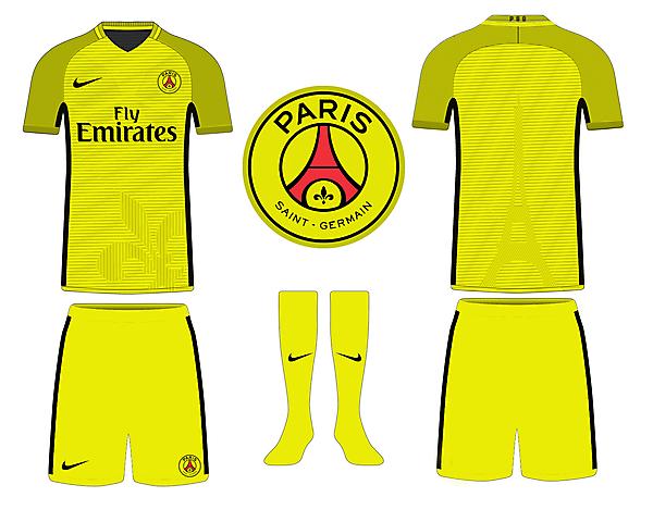 PSG Yellow Kits Concept