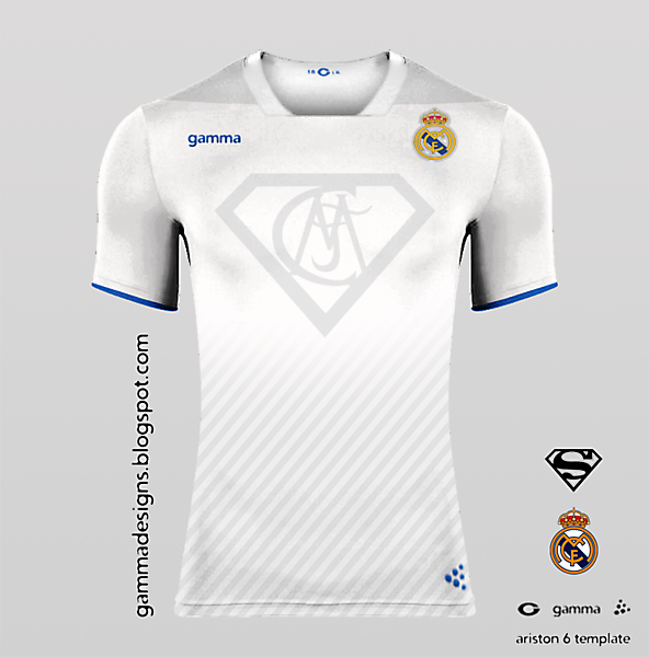 superman+real madrid home kit