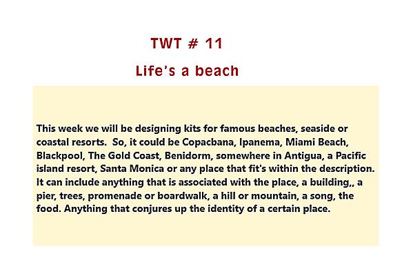 TWT eleven - Life's a Beach!
