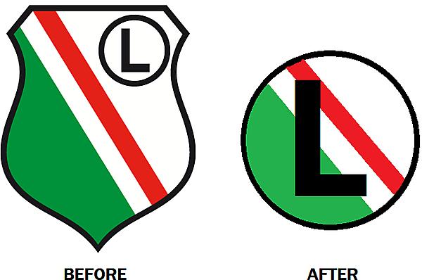 New Legia Warsaw Crest