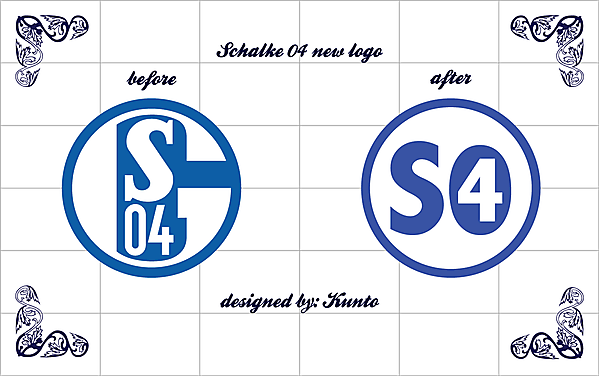 schalke 04 new crest