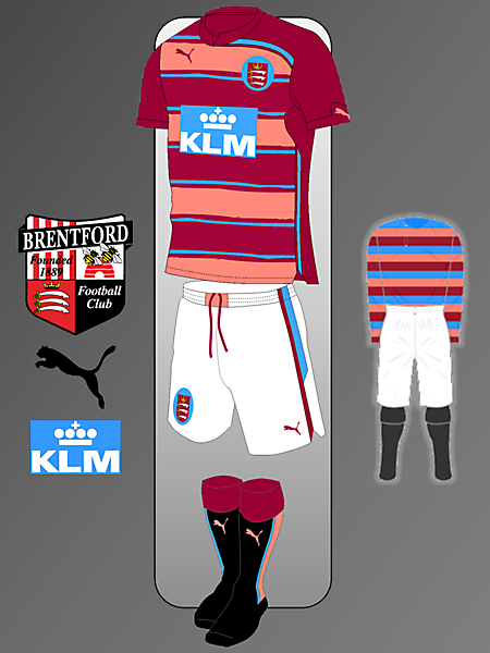 Brentford Puma kit Inspired by 1889-1897 Home Kit