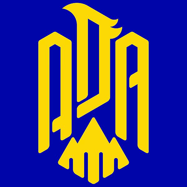 AD Alcorcón Logo (Reversed Color)