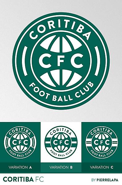 Coritiba FC - Brazil - crest redesign