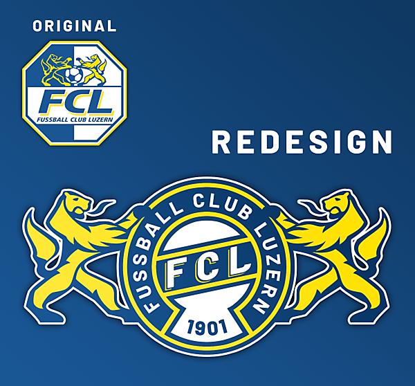 FC Luzern Crest Redesign