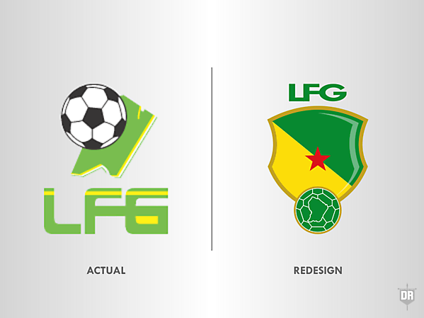 French Guiana Football Team Crest Redesign
