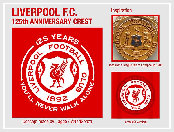 Liverpool F.C. 125th Crest concept