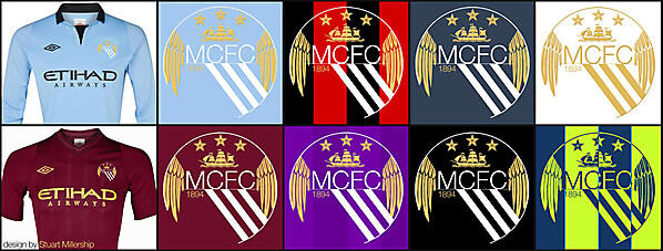 Reworked Man City crest - colours