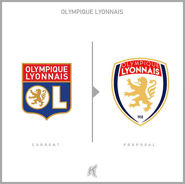Olympique Lyonnais Logo Redesign