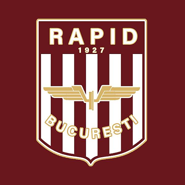 Rapid Bucuresti Crest Redesign