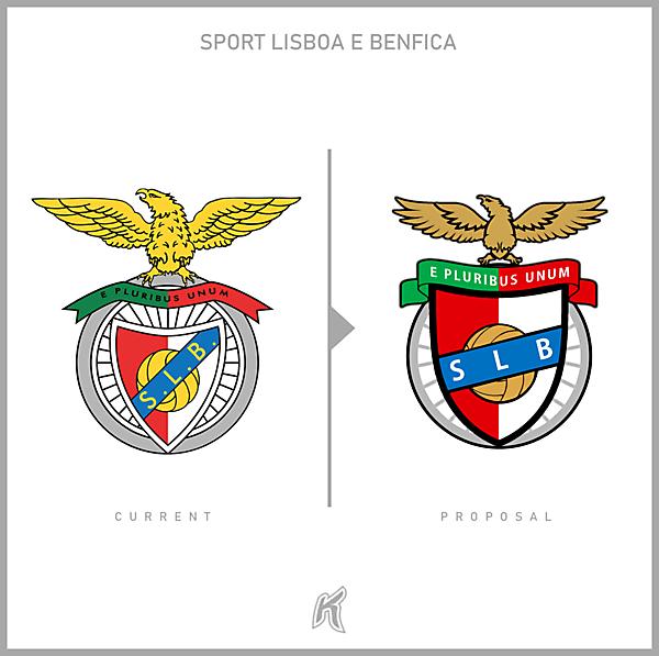 SL Benfica Logo Redesignn