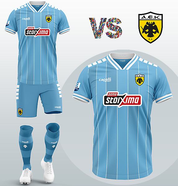 AEK Athens FC Away kit with Capelli Sport (Concept 2020/21)