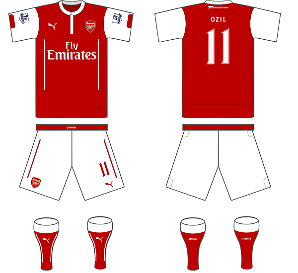 Arsenal 14/15 Puma Home Kit