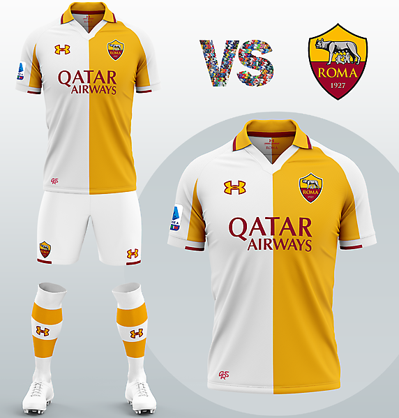 AS Roma Away kit with Under Armour (Concept 2020/21)