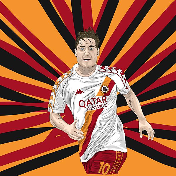 AS Roma Away Kit x Kappa (ft. Francesco Totti)