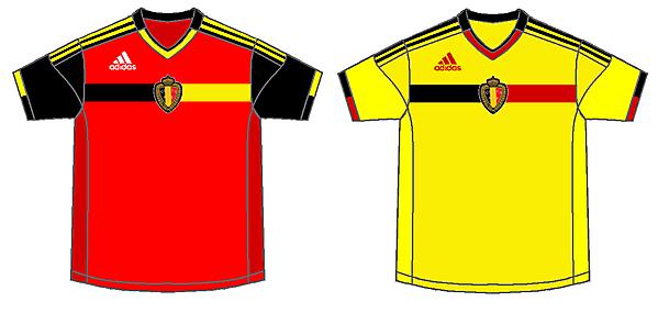 Belgium Home and Away kits