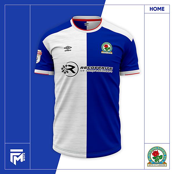 Blackburn Rovers 2020/21 Home Shirt Concept