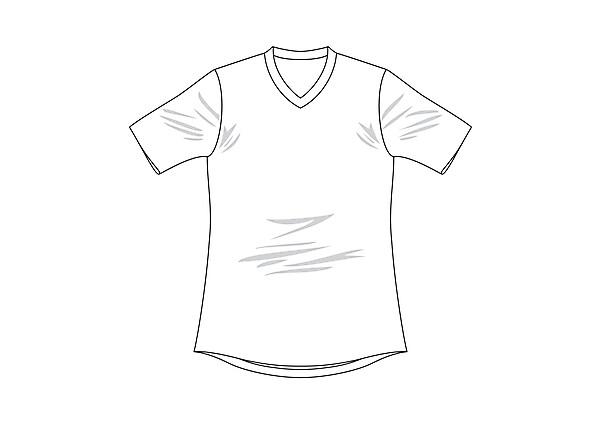 Blank shirt template