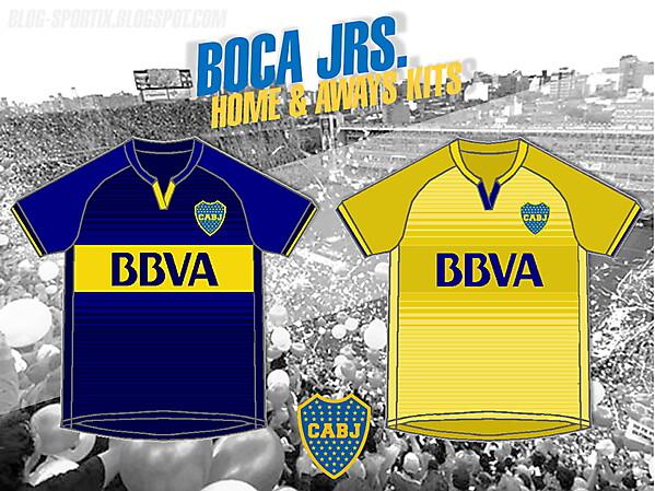 Boca Jrs. Home y Away Kits