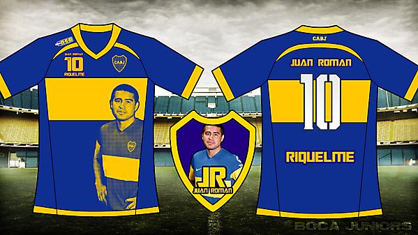 Boca juniors homenaje Riquelme kit