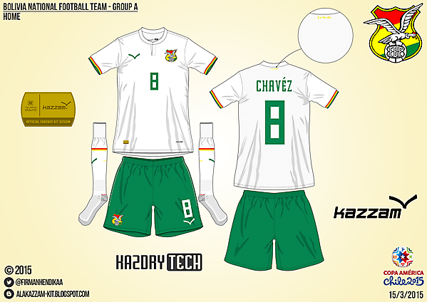 Bolivia Away - Group A, 2015 Copa América