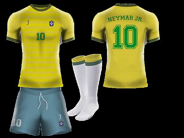 Brazil home kit by J-sports