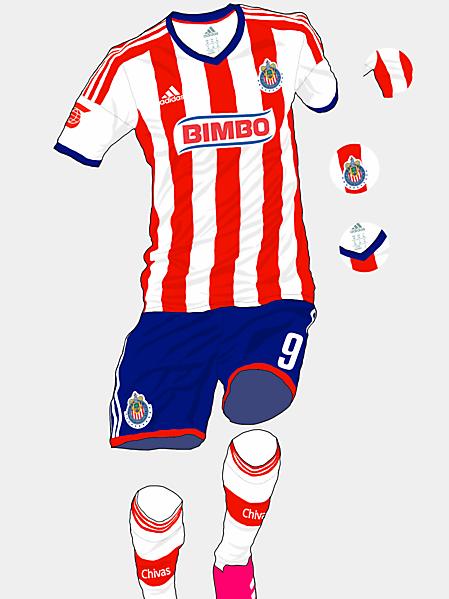 Chivas Guadalajara 15-16 Home Kit