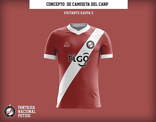 Club Atletico Nacional Potosi - Concepto de camiseta tipo A visitante 2