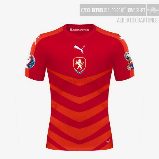 Czech Republic UEFA EURO 2016™ Home Shirt