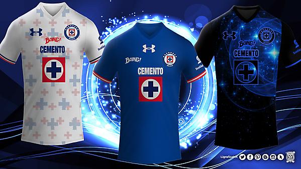 Deportivo Cruz Azul Under Armour Kits