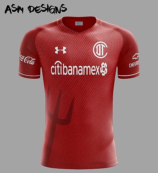adfc111acbb Deportivo Toluca F.C. Under Armour 2018 Home Kit