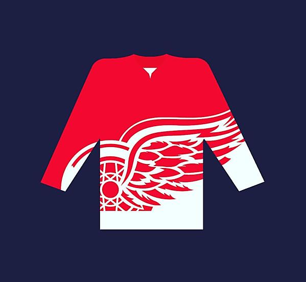 Detroit Red Wings soccer shirt long sleeve