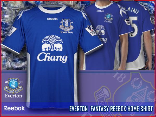 EVERTON fantasy reebok home shirt
