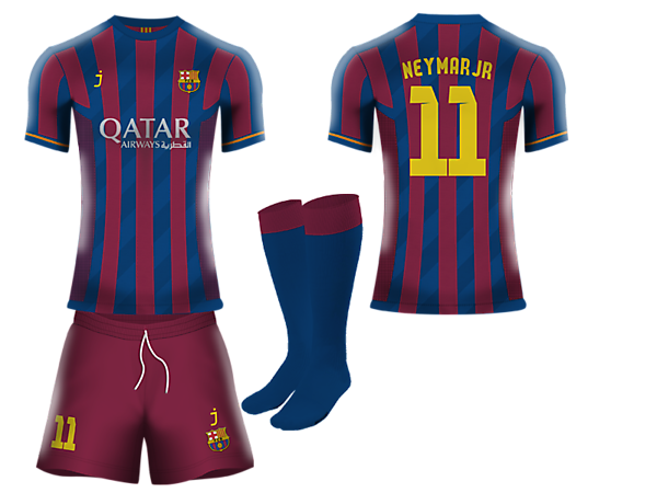 b02caf3a7 FC Barcelona home kit by J-sports