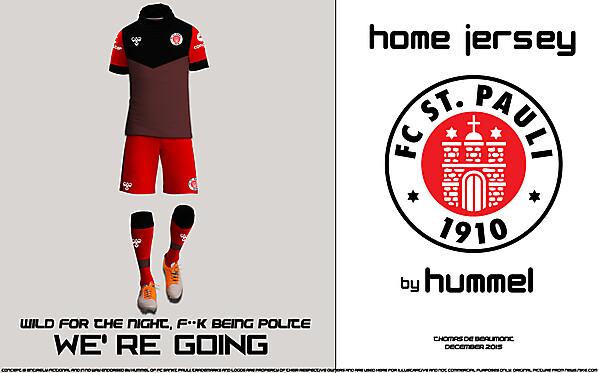FC SANKT PAULI HOME JERSEY VIEW