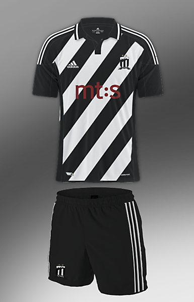 FK Partizan Beograd kit with my crest