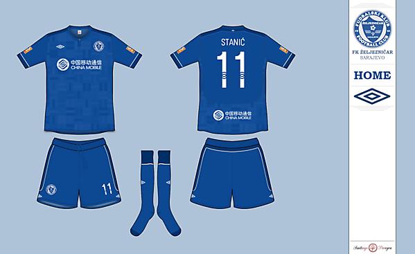 FK Željezničar Sarajevo   Home Kit