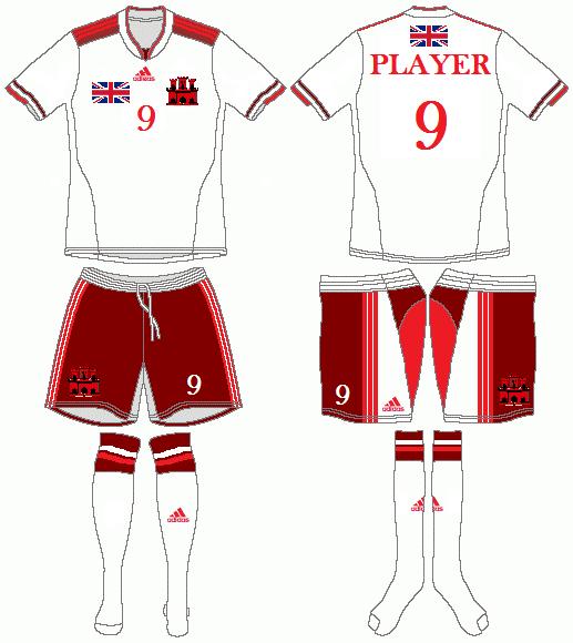 Gibraltar Adidas Home Kit