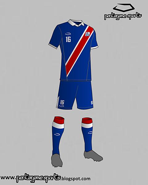Iceland National Football Team Home Kit 2016
