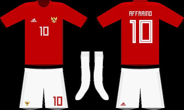 Indonesia x Adidas 2019-20 home kit