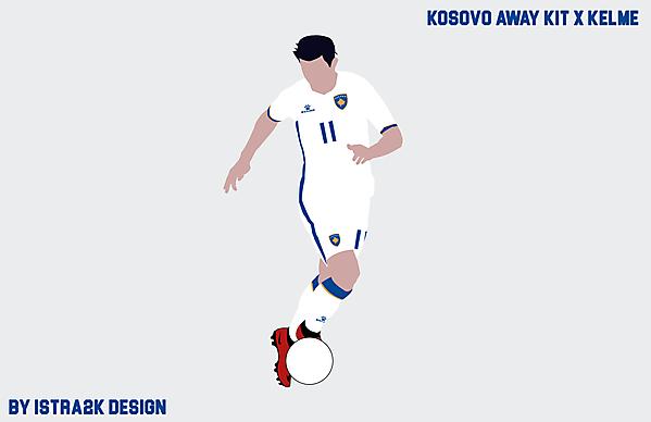Kosovo away kit x Kelme