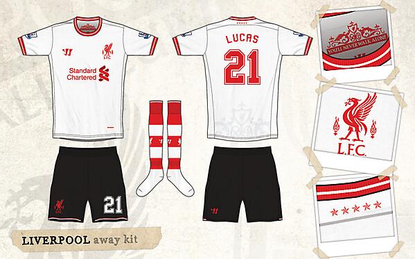 Liverpool Warrior Away Kit
